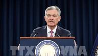 Chủ tịch FED Jerome Powell trong cuộc họp báo thông báo việc tăng lãi suất lần thứ 2 trong năm, tại Washington DC., ngày 13/6. Ảnh: THX/TTXVN
