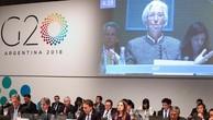 Tổng Giám đốc IMF Christine Lagarde phát biểu tại hội nghị Bộ trưởng Tài chính và Thống đốc Ngân hàng G20 ở Buenos Aires, Argentina ngày 21/7. (Ảnh: EPA-EFE/TTXVN)