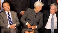 Tổng giám đốc Quỹ Tiền tệ Quốc tế (IMF) Christine Lagarde (giữa) và Chủ tịch Cục Dự trữ Liên bang Mỹ (FED) Jerome Powell (phải) và Bộ trưởng Bộ Tài chính Nhật Bản Taro Aso tại hội nghị G20 ở Buenos Aires vào cuối tuần vừa rồi - Ảnh: Reuters.
