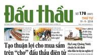 Báo Đấu thầu số 178 ra ngày 19/9/2018