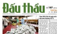 Báo Đấu thầu số 187 ra ngày 2/10/2018