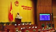 100% đại biểu Quốc hội tham dự Kỳ họp thứ 6 Quốc hội khóa XIV đã bấm nút phê chuẩn CPTPP. Ảnh: Quang Khánh