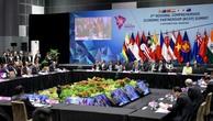 Quang cảnh Hội nghị Cấp cao lần thứ 2 các nước tham gia đàm phán RCEP. Ảnh: Hiếu Nguyễn
