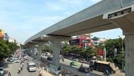 Dự án Đường sắt đô thị Nhổn - ga Hà Nội mới chỉ thực hiện trên 46% khối lượng công việc. Ảnh: Tường Lâm