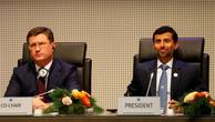 VnExpressBộ trưởng Năng lượng Nga - Alexander Novak và Bộ trưởng Dầu mỏ UAE - Suhail Mohamed Al Mazrouei. Ảnh:Reuters