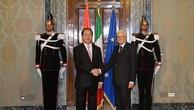 Chủ tịch nước hội đàm với Tổng thống Italy