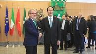 Chủ tịch nước gặp Thị trưởng TP. Milan và Chủ tịch vùng Lombardia
