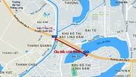 Vị trí xây cầu vượt sông Bắc Linh Đàm. Ảnh: VOV.