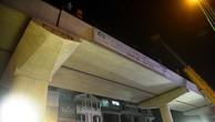 Đường ray tàu điện Nhổn - ga Hà Nội được lắp đặt