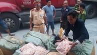 Chở lậu 1,5 tấn sụn gà, tài xế bị phạt 5 triệu đồng