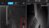 Kẻ đột nhập, ném bom bẩn vào nhà của nhà báo Thanh Hải được camera gia chủ ghi lại.