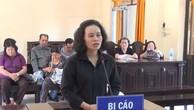 Bị cáo Mạc Quế Hương tại phiên tòa