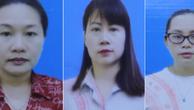 Từ trái qua phải: Nguyễn Thị Thu Loan, Nguyễn Thị Hồng Chung và Bùi Thanh Trà