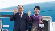 Thủ tướng Nguyễn Xuân Phúc và Phu nhân tới Sân bay Pulkovo 1, TP. Saint Petersburg, bắt đầu chuyến thăm chính thức Liên bang Nga. Ảnh: VGP
