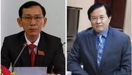 Thứ trưởng Bộ Kế hoạch và Đầu tư Võ Thành Thống (ảnh trái); Thứ trưởng Bộ Văn hóa, Thể thao và Du lịch Tạ Quang Đông (ảnh phải)