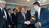 Thủ tướng Nguyễn Xuân Phúc gặp gỡ các tập đoàn hàng đầu Na Uy. Ảnh VGP