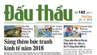 Báo Đấu thầu số 182 ra ngày 25/9/2018