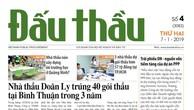 Báo Đấu thầu số 4 ra ngày 7/1/2019