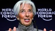 Tổng giám đốc IMF, bà Christine Lagarde, trong cuộc họp báo ở Davos ngày 21/1 - Ảnh: Reuters.