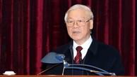 Tổng Bí thư, Chủ tịch nước Nguyễn Phú Trọng phát biểu tại Hội nghị tổng kết năm 2018 và bàn phương hướng nhiệm vụ trọng tâm năm 2019 của Ban Nội chính Trung ương. Ảnh: Lê Sơn