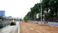 Gói thầu số 7 thuộc Dự án Xén mở rộng đường Láng đoạn từ Cầu Giấy đến Ngã tư Sở, quận Đống Đa có giá gói thầu là 34,695 tỷ đồng. Ảnh: Lê Tiên