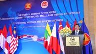 Thứ trưởng Bộ Kế hoạch và Đầu tư Vũ Đại Thắng phát biểu tại Hội nghị thường niên lần thứ 7 của Ủy ban Điều phối ASEAN về doanh nghiệp nhỏ và vừa. Ảnh: Dương Ngọc Linh