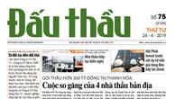 Báo Đấu thầu số 75 ra ngày 24/4/2019