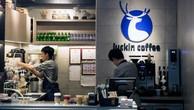 Bên trong một cửa hiệu của Luckin Coffee.