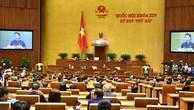 Dưới sự chủ trì của Chủ tịch Quốc hội Nguyễn Thị Kim Ngân, chiều ngày 14/6, Quốc hội họp phiên bế mạc và biểu quyết thông qua Nghị quyết Kỳ họp thứ 7. Ảnh: Quang Khánh