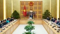 Thủ tướng Nguyễn Xuân Phúc mong muốn cộng đồng doanh nghiệp tư nhân đóng góp nhiều hơn cho chất lượng, hiệu quả tăng trưởng, giải quyết việc làm… Ảnh: Hiếu Nguyễn