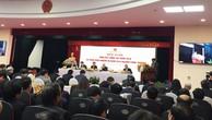 Thứ trưởng Bộ Công Thương Hoàng Quốc Vượng báo cáo về việc xử lý các dự án yếu kém của Ngành tại Hội nghị ngày 17/1/2018.