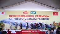 Lễ động thổ xây dựng Nhà máy Artpresto Việt Nam tại Hà Nam ngày 14/2/2019.