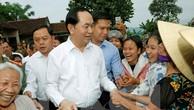 Chủ tịch nước Trần Đại Quang và nhân dân xã  Nghĩa Đồng, Tân Kỳ, Nghệ An