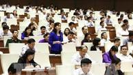 Đại biểu Quốc hội tỉnh Bắc Ninh Trần Thị Hằng phát biểu ý kiến. Ảnh: TTXVN