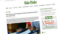 Đấu thầu tại quận Đống Đa (Hà Nội): Nhà thầu phản ánh không nộp hồ sơ dự thầu
