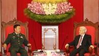 Tổng Bí thư tiếp đoàn đại biểu cấp cao quân đội Trung Quốc