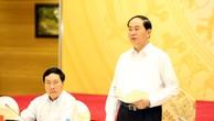 Chủ tịch nước Trần Đại Quang phát biểu chỉ đạo Phiên họp. Ảnh: VGP