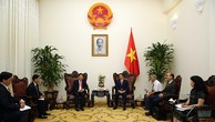 Phó Thủ tướng Vũ Đức Đam đánh giá cao những kết quả hợp tác y tế giữa hai nước Việt Nam, Lào trong thời gian qua. Ảnh: VGP