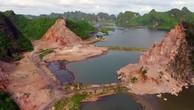 Khu vực khai thác đá trên vịnh Hạ Long.