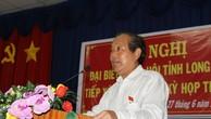 Phó Thủ tướng Thường trực Chính phủ Trương Hòa Bình phát biểu với cử tri huyện Bến Lức. Ảnh: VGP