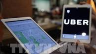 Uber là một trong các đơn vị được phép thí điểm ứng dụng công nghệ vào kinh doanh vận tải hành khách tại Hà Nội. EPA/TTXVN