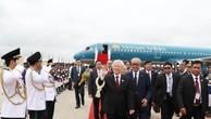 Tổng Bí thư Nguyễn Phú Trọng bắt đầu chuyến thăm cấp Nhà nước Vương quốc Campuchia