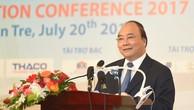 Thủ tướng Nguyễn Xuân Phúc phát biểu tại  Hội nghị xúc tiến đầu tư tỉnh Bến Tre. Ảnh: VGP