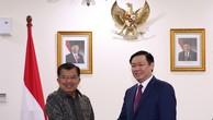 Phó Thủ tướng Vương Đình Huệ đã hội kiến Phó Tổng thống Indonesia Jusuf Kalla. Ảnh: VGP