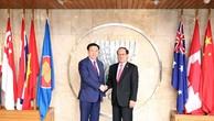 Phó Thủ tướng Vương Đình Huệ làm việc tại Ban Thư ký ASEAN
