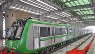 Lễ mở bạt thăm quan đoàn tàu mẫu tại nhà ga La Khê dự án đường sắt đô thị tuyến Cát Linh - Hà Đông. Ảnh: BNEWS