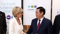 Phó Thủ tướng Vương Đình Huệ và Bộ trưởng Bộ Ngoại giao và Thương mại Australia, bà Julie Bishop. Ảnh: VGP