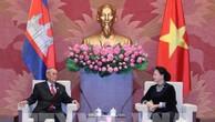 Chủ tịch Quốc hội Nguyễn Thị Kim Ngân tiếp PCT thứ nhất Thượng viện Vương quốc Campuchia
