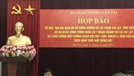 Thứ trưởng Bộ Giao thông Vận tải Nguyễn Ngọc Đông chủ trì cuộc họp báo chiều 17/8 về trạm thu phí Cai Lậy. Ảnh: BNEWS