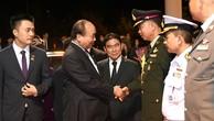 Thủ tướng Nguyễn Xuân Phúc đến thăm tỉnh Nakhon Phanom. Ảnh: VGP